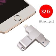 Flash disk 32 GB 2v1 IDISKK pro Apple iPhone / MacBook a další - Lightning / USB - stříbrný