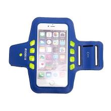 Sportovní svítící pouzdro ROMIX s LED pro Apple iPhone 6 Plus / 6S Plus - modré