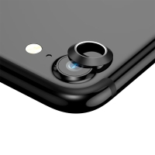 Kroužek / krytka BASEUS na kameru pro Apple iPhone 7 / 8 - kovový - černý
