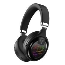 Bezdrátová Bluetooth sluchátka XO BE 18 - herní - RGB podsvícení - černá