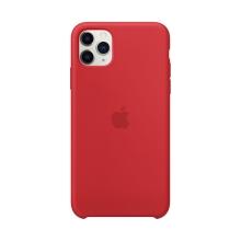 Originální kryt pro Apple iPhone 11 Pro Max - silikonový - červený