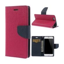 Pouzdro Mercury pro Apple iPhone 6 / 6S - stojánek a prostor pro platební karty - růžovo-modré