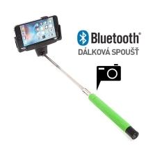 Teleskopická selfie tyč / monopod bluetooth - zelená