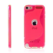 Kryt pro Apple iPod touch 5. / 6.gen. gumový výřez pro logo růžový