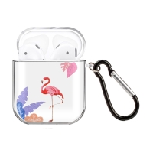 Pouzdro / obal pro Apple AirPods - gumové - plameňák