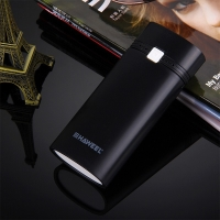 Mini externí box na baterie 2x 18650 - černý