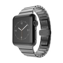 Řemínek pro Apple Watch 40mm Series 4 / 38mm 1 2 3 - ocelový - černý