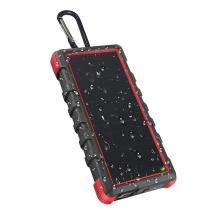 Solární externí baterie / power bank OUTXE - 24000 mAh - IP67 - Quick Charge - černá