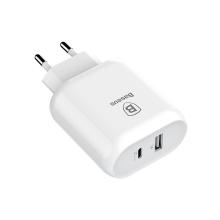"""Nabíječka / adaptér pro Apple iPhone / iPad / Macbook 12"""" - 32W USB-A + USB-C - bílá"""