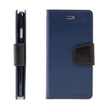 Pouzdro Mercury Sonata Diary pro Apple iPhone 7 / 8 - stojánek a prostor na doklady - tmavě modré