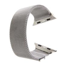 Řemínek pro Apple Watch 44mm Series 4 / 5 / 6 / SE / 42mm 1 / 2 / 3 - magnetický - nerez - stříbrný