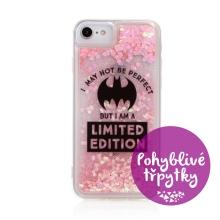 Kryt DC COMICS pro Apple iPhone 6 / 6S / 7 / 8 / SE (2020) - pohyblivá srdíčka - gumový - Batman Bat Girl
