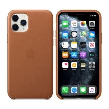 Originální kryt pro Apple iPhone 11 Pro - kožený - sedlově hnědý