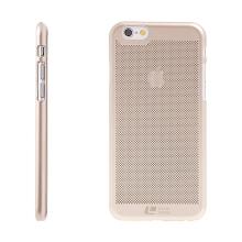 Kryt LOOPEE pro Apple iPhone 6 / 6S - plastový děrovaný - zlatý