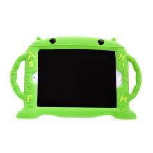 Pouzdro pro děti pro Apple iPad Air 1 / Air 2 / 9,7 (2017-2018) - rukojeť / stojánek - robot - silikonové - zelené