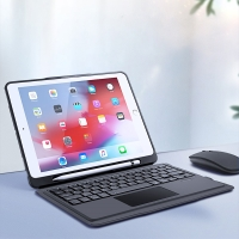 "Klávesnice + kryt DUX DUCIS pro Apple iPad 10,2"" (2019-20) /  Pro 10,5"" / Air 10,5"" - trackpad + držák Pencil - černá / šedá"