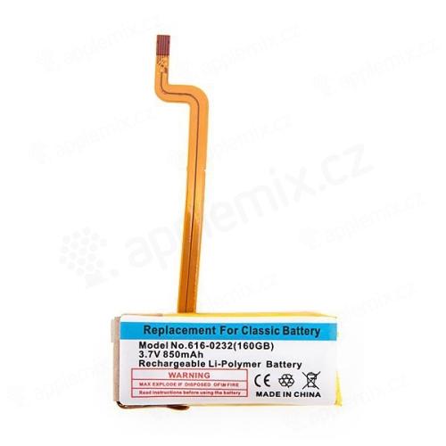Baterie pro Apple iPod classic 160GB (tlustší verze) / iPod video 60GB a 80GB (850mAh)