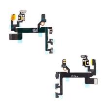 Flex kabel s přepínačem MUTE + ovládání hlasitosti + POWER pro Apple iPhone 5S - kvalita A+