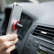 Držák magnetický na ventilační mřížku auta - červený