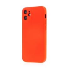 Kryt SWISSTEN Soft Joy pro Apple iPhone 12 mini - příjemný na dotek - silikonový - červený