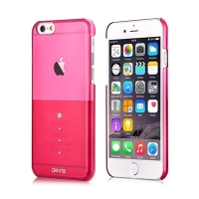 Plastový kryt DEVIA pro Apple iPhone 6 / 6S - růžový s kamínky Swarovski