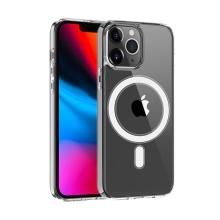 Kryt pro Apple iPhone 13 Pro Max - podpora MagSafe - plastový / gumový - průhledný