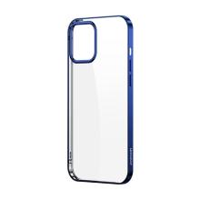 Kryt JOYROOM Samsonite pro Apple iPhone 12 / 12 Pro - gumový - průhledný / modrý