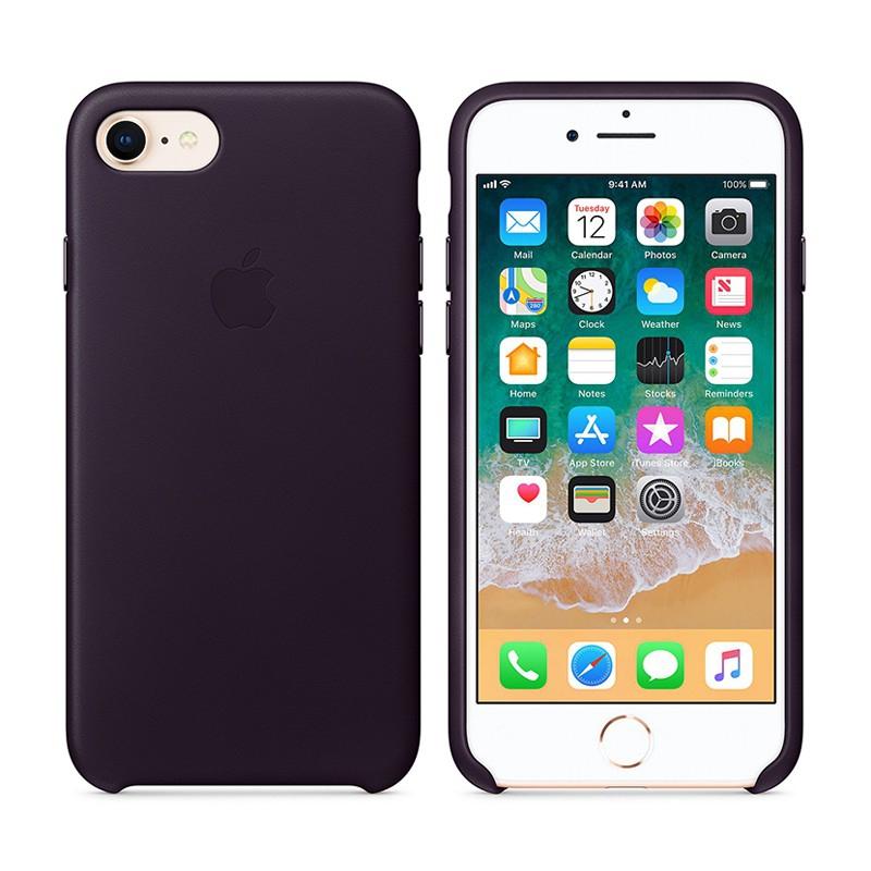 Originální kryt pro Apple iPhone 7 / 8 - kožený - lilkově fialový