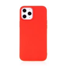 Kryt FORCELL Soft pro Apple iPhone 12 / 12 Pro - gumový - červený
