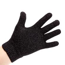 Rukavice pro ovládání dotykových zařízení - stříbrně prošívené - černé