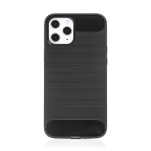 Kryt FORCELL Carbon pro Apple iPhone 12 Pro Max - gumový - černý
