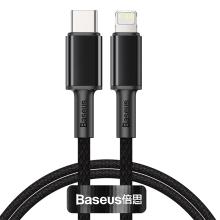Synchronizační a nabíjecí kabel BASEUS - USB-C - Lightning - černý - 2m