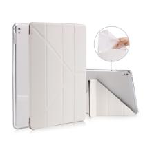 Pouzdro pro Apple iPad Pro 9,7 - variabilní stojánek + funkce chytrého uspání - gumové bílé