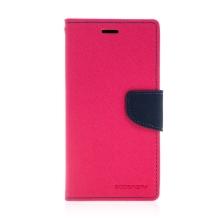 Kryt MERCURY Fancy Diary pro Apple iPhone 11 - umělá kůže - růžový / modrý