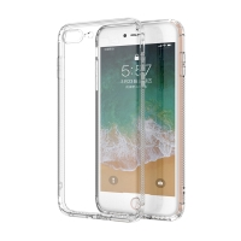 Kryt LEEU pro Apple iPhone 7 Plus / 8 Plus - zesílené rohy + záslepky - gumový - průhledný