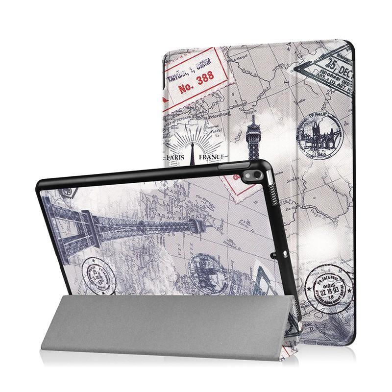Pouzdro / kryt pro Apple iPad Pro 10,5 - funkce chytrého uspání + stojánek - Paříž