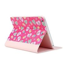 Ochranné pouzdro s integrovaným stojánkem a funkcí chytrého probuzení pro Apple iPad mini / mini 2 / mini 3 - sovičky - růžové