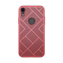 Kryt NILLKIN Air pro Apple iPhone Xr - preforovaný / s otvory - plastový - červený