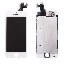 Osazená přední čast (LCD panel, touch screen digitizér atd.) pro Apple iPhone 5S / SE - bílý