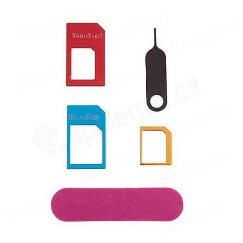 Redukce na SIM kartu (Nano SIM / Micro SIM / standardní SIM) + vysouvací jehla a pilník