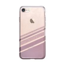 Kryt VOUNI pro Apple iPhone 7 / 8 - gumový - průhledný / růžový