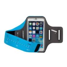 Sportovní pouzdro MOMAX pro Apple iPhone 6 Plus / 6S Plus / 7 Plus / 8 Plus - černé / modré s reflexním pruhem