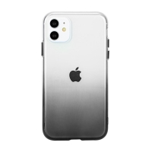 Kryt pro Apple iPhone 11 - gumový - průhledný / šedý