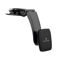 Držák do auta SWISSTEN G1-R1 pro Apple iPhone - magnetický - přísavka na palubní desku - černý
