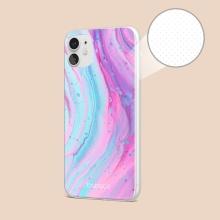 Kryt BABACO pro Apple iPhone X / Xs - gumový - mramor - růžový / modrý