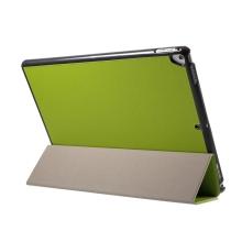 """Pouzdro / kryt pro Apple iPad Pro 12,9"""" / 12,9"""" (2017) - integrovaný stojánek - umělá kůže - zelené"""
