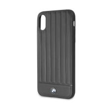 Kryt BMW Hot Lines pro Apple iPhone X / Xs - s pruhy - kožený - černý