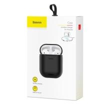 Pouzdro BASEUS pro Apple AirPods pro bezdrátové Qi nabíjení - silikonové - černé