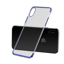 Kryt BASEUS pro Apple iPhone X - plastový - průhledný / modrý