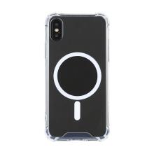 Kryt pro Apple iPhone Xs Max - zesílené rohy - MagSafe magnety - plastový / gumový - průhledný